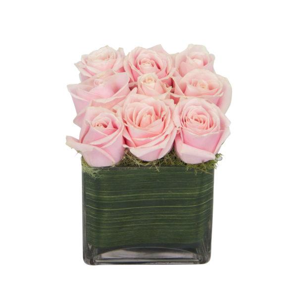 unique pink floral arrangment