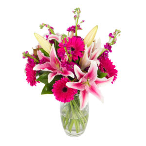 Pink and white flower arrangement in Browns Bay Auckland